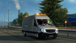 getlinkyoutube.com-[ETS2 v1.21] Mercedes Sprinter v 0.3 BETA + Cabin Accessories DLC