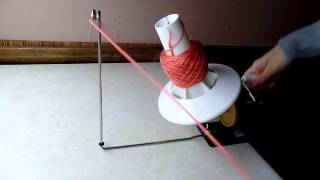 getlinkyoutube.com-Yarn Ball Winder Review my new toy #229 LEARN CROCHET
