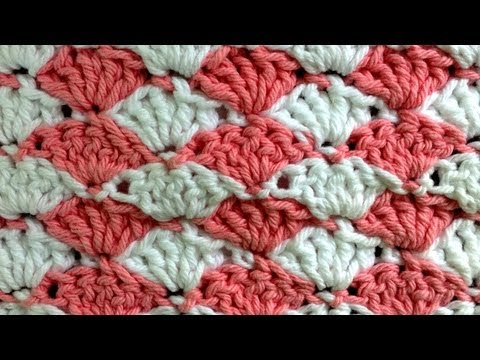 Shell Crochet Stitch Change Color Every Row Pattern by Maggie Weldon