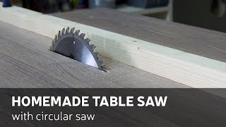 getlinkyoutube.com-How To Make A Homemade Table Saw With Circular Saw