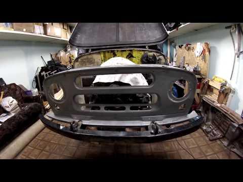 Стройка турбодизельного УАЗа мечты, установка педального узла и стеклопластик часть 4