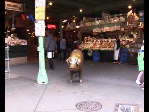 'Pike Place Market', Pasar Ikan di Seattle - Liputan Feature VOA April 2012