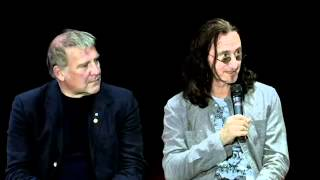 Geddy Lee and Alex Lifeson meet their heroes