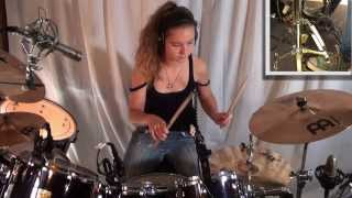 getlinkyoutube.com-Dream Theater - Metropolis Pt.1: drum cover by 14 year old girl