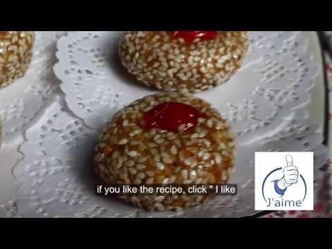 gateau algerien 2013/ mchewek aux grains de sesame