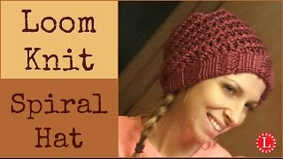 Loom Knit Hat - How to Make Super Easy Spiral Hats with Step by Step Knitting for Beginners