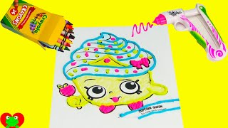 getlinkyoutube.com-Shopkins Cupcake Queen with Doh Vinci