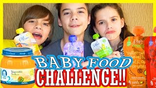 getlinkyoutube.com-BABY FOOD CHALLENGE!!  |  KITTIESMAMA