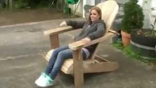 getlinkyoutube.com-Садовая мебель из дерева. Кресло своими руками