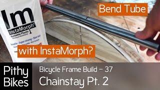 getlinkyoutube.com-Bicycle Frame Build 37 - Tube Bending with Instamorph?