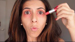Tapar, Corregir, Eliminar o Quitar Ojeras con Labial Rojo ¿Funciona? ¡Probemos! por Lau
