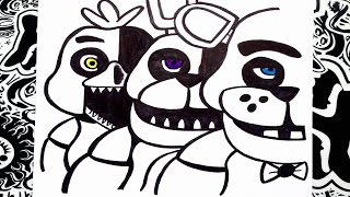 Como dibujar a five nights at freddy's 1 | how to draw five nights at freddy's 1