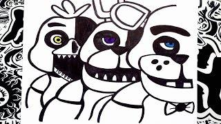 getlinkyoutube.com-Como dibujar a five nights at freddy's 1 | how to draw five nights at freddy's 1