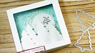 getlinkyoutube.com-Pop Up Shodow Box Card Tutorial  + Perfect Pines dies Stampin Up