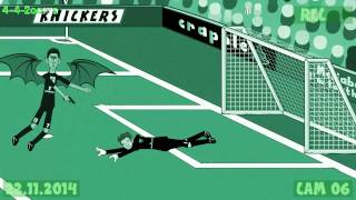getlinkyoutube.com-⚽️Arsenal vs Manchester Utd 1-2⚽️ (2014 goals highlights Rooney Gibbs 442oons football cartoon)