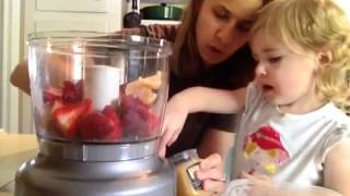 STRAWBERRY SORBET RECIPE -Made In the Food Processor- Raw food Recipe
