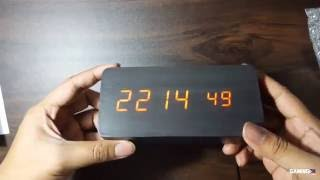 Digital LED Wooden Clock from eBay