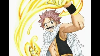 Speed Drawing Natsu from Fairy Tail (HD) 夏