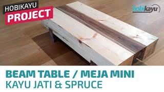 Mini Beam Coffee Table - Meja Kayu Ruang Tamu Mini