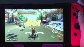 getlinkyoutube.com-Mario Kart 8 Deluxe Played on the Switch Handheld