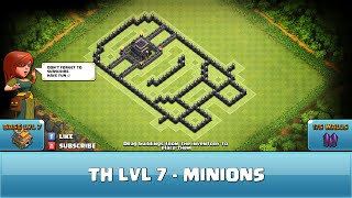 getlinkyoutube.com-★ Clash of Clans Troll Base ★ TH7 - Minions Defense, Hybrid