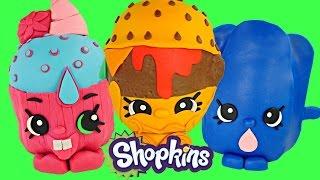 getlinkyoutube.com-SHOPKINS GIANT PLAY DOH SURPRISE EGGS | 3 EGGS Surprise Toys Videos For Kids