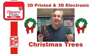 getlinkyoutube.com-3D Printed Christmas Tree and 3D Electronic Christmas Tree - How To and Assembly