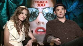 Piranha 3DD - Interview with David Koechner and Danielle Panabaker - YouTube