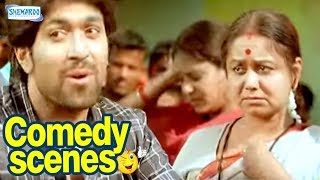 Drama Comedy Scenes - Kannada Comedy - Yash, Satish