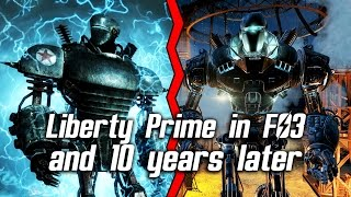 Fallout 4 - Liberty Prime in Fallout 3 and 10 years later in Fallout 4