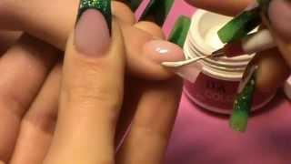 getlinkyoutube.com-Square Nail Shape Unghia Quadrata French Bianco