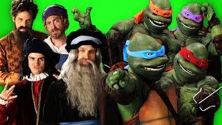getlinkyoutube.com-Artists vs Turtles. Behind the Scenes of Epic Rap Battles of History.