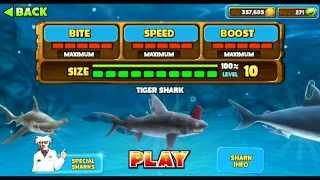getlinkyoutube.com-Hungry Shark Evolution All sharks information including Secret/Special Sharks