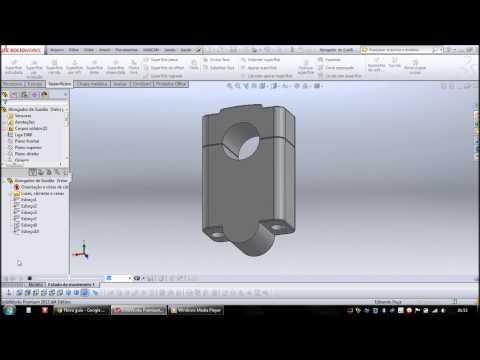 Alongador de Guidão SolidWorks