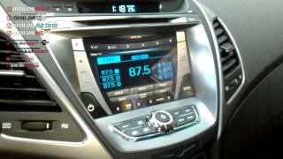 더뉴아반떼MD 아이나비큐브 오디오 트립일체형 매립 - 아이나비CUBE 작동영상
