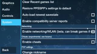 best ppsspp 0.9.6.2 settings for faster gameplay