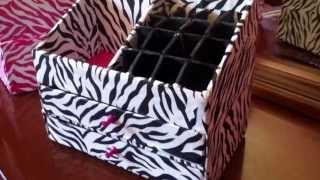 getlinkyoutube.com-DIY Organizador para maquillaje y labiales