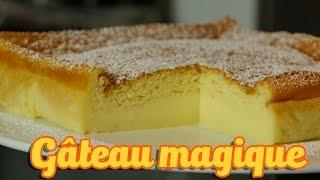 getlinkyoutube.com-Recette facile gâteau magique à la vanille (magic cake recipe)