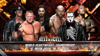 getlinkyoutube.com-WWE 2K16 - Sting vs Brock Lesnar vs Roman Reigns vs Rock vs Undertaker vs Batista (HELL IN A CELL)