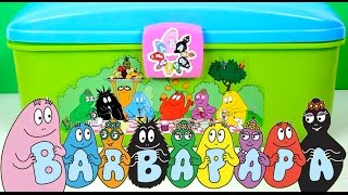 getlinkyoutube.com-Play Doh Barbapapa Molds and Shapes Carry Case Play Dough Picnic Set Barbapapá Barbapapa Family