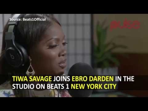 Tiwa Savage Joins Ebro Darden In The Studio On Beats 1 New York City | Pulse TV