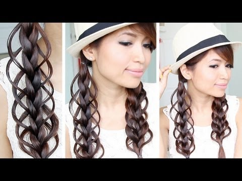 Feather Loop Braid Hair Tutorial