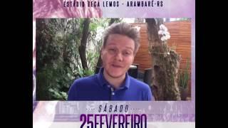 Em vídeo, Michel Teló convida para show em Arambaré