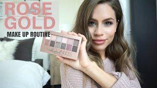 getlinkyoutube.com-Rose Gold Make Up Routine | Maybelline BLUSHED NUDES Palette