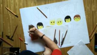 getlinkyoutube.com-Let's draw - the Lego Ninjas