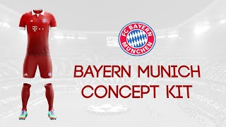 getlinkyoutube.com-Speed Art - Bayern Munich Kit Concept