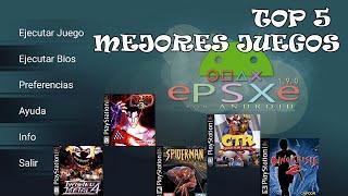 TOP 5 MEJORES JUEGOS PLAY 1 PSX PARA ANDROID EMULADOR ePSXe