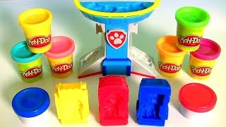 getlinkyoutube.com-Paw Patrol Play Doh Patrol To The Rescue Dough Set by Nickelodeon Mold puppies