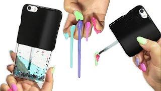 getlinkyoutube.com-DIY LIQUID GLITTER Nail Polish PHONE CASE!