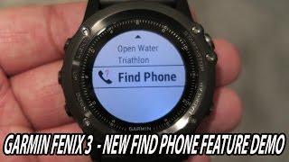 getlinkyoutube.com-Garmin fenix 3 - Find Phone Feature Demo - New App Review - filmed with Canon G7X